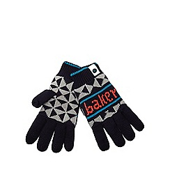 Baker by Ted Baker - Baker by Ted Baker Boys' navy fairisle gloves
