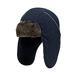 Baker by Ted Baker - Navy faux fur trapper hat