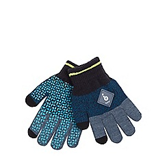 Baker by Ted Baker - Boys' multi-coloured geometric patterned gloves