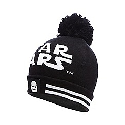 Star Wars - Boys' black 'Star Wars' pom beanie