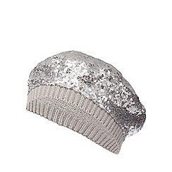 bluezoo - bluezoo Girls' silver sequin beret hat