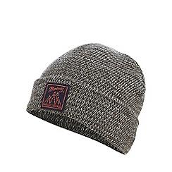 Mantaray - Black pom pom beanie hat