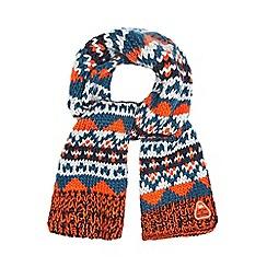 Mantaray - Mantaray boy's multi coloured fairisle scarf