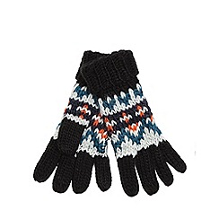 Mantaray - Mantaray Boys' multi-coloured fairisle knit gloves