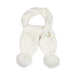 J by Jasper Conran - Girls' cream cable knit scarf