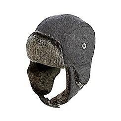 J by Jasper Conran - Boys' grey wool blend trapper hat