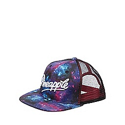 Pineapple - Pink galaxy print hat