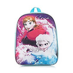 Disney Frozen - Blue 'Frozen' print light-up backpack