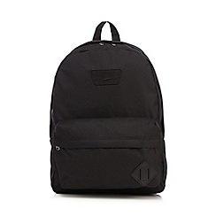 Vans - Boys' black applique logo backpack