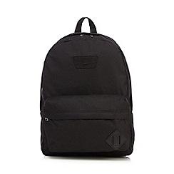 Vans - Boys' black applique logo backpack