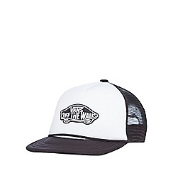 Vans - Boys' white logo applique trucker hat
