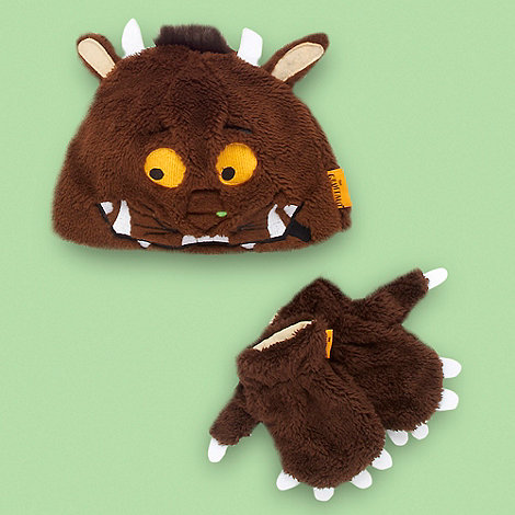 The Gruffalo - Children+s brown +Gruffalo+ hat and mittens set