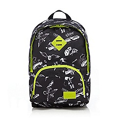 Animal - Boys' black printed backpack
