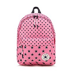 Converse - Girls' pink 'All Star' star print backpack