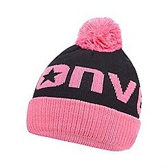Converse - Girls' pink logo beanie hat