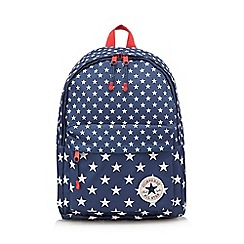 Converse - Boys' navy 'All Star' star print backpack