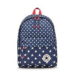 Converse - Boys' navy 'All Star' star print backpack