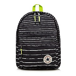 Converse - Boys' black 'All Star' striped print backpack