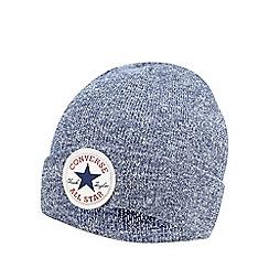 Converse - Boys' navy marl beanie hat