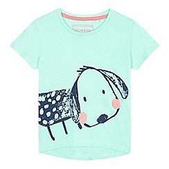 bluezoo - Girls' green dog print top