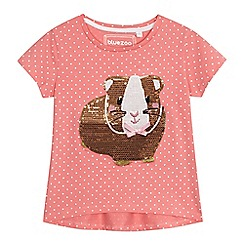 bluezoo - Girls' pink sequin hamster t-shirt