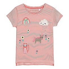 bluezoo - Girls' pink badge top
