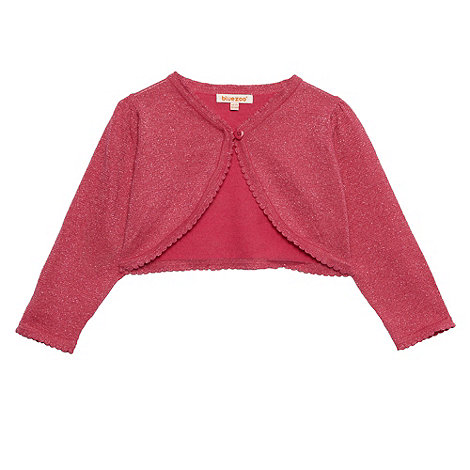 bluezoo - Girl+s pink glittery party cardigan
