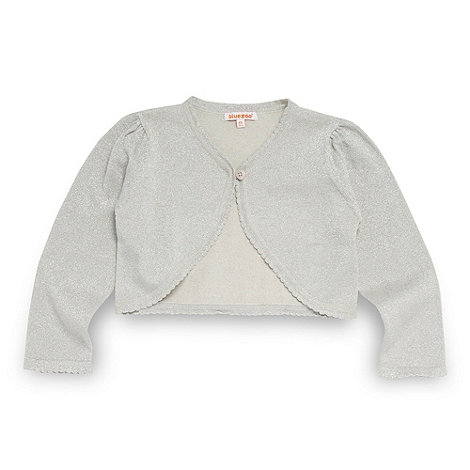 bluezoo - Girl+s silver metallic three quarter cardigan