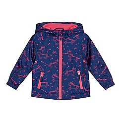 bluezoo - Girls' navy unicorn print jacket