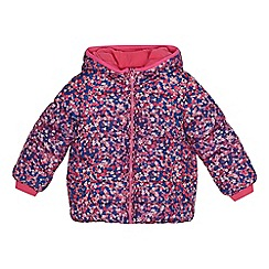 bluezoo - Girls' multi-coloured floral print padded shower resistant coat