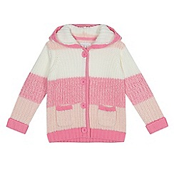 bluezoo - Girls' pink stripe cardigan