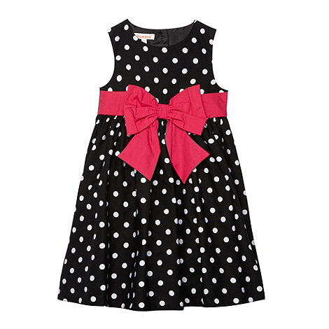 bluezoo - Girl+s black spotted bow party dress