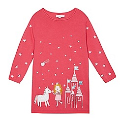 bluezoo - Girls' pink embroidered tunic jumper