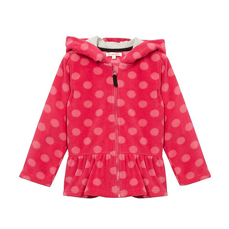 bluezoo - Girl+s red spotted peplum fleece jacket