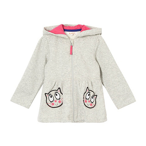 bluezoo - Girl+s grey cat pocket fleece jacket