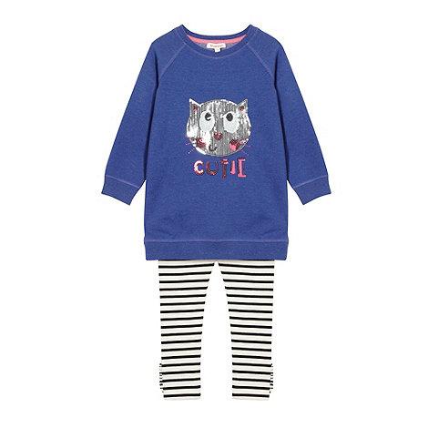 bluezoo - Girl+s navy leggings