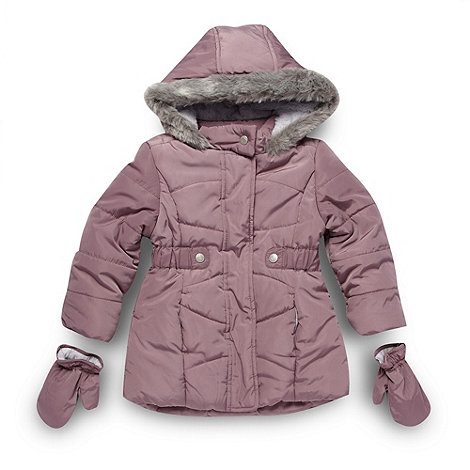 bluezoo - Girl+s mauve long padded coat