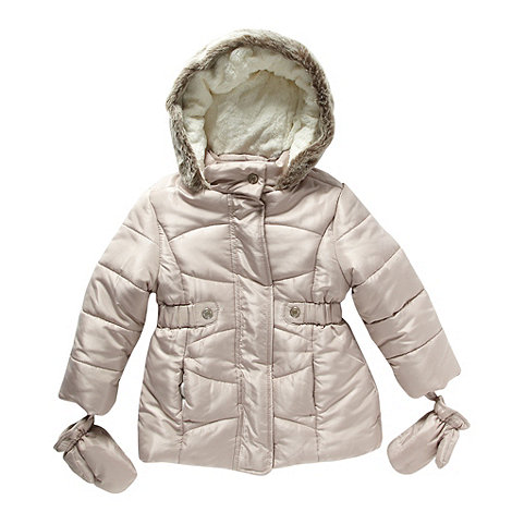 bluezoo - Girl+s beige long padded coat