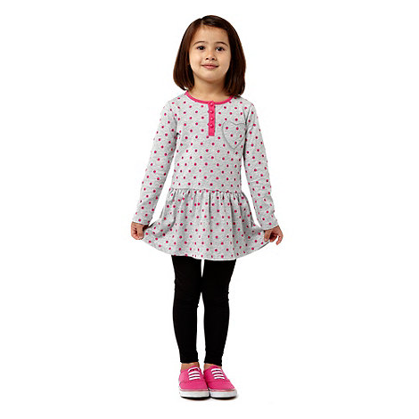 bluezoo - Girl+s multi spotted dress and leggings set