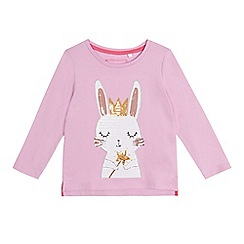bluezoo - Girls' light purple sequin bunny t-shirt