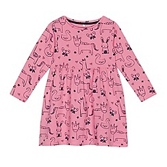 bluezoo - Girls' pink animal print dress
