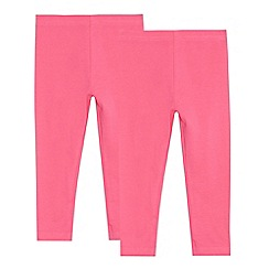 bluezoo - Pack of two girls' pink leggings