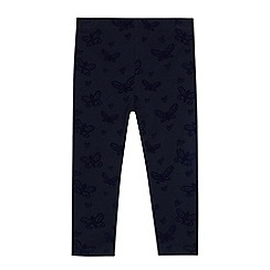 bluezoo - Girls' animal flocked leggings