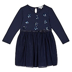 bluezoo - Girls' navy sequin star dress