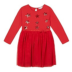 bluezoo - Girls' red star sequinned dress