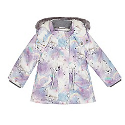 bluezoo - Girls' multi-coloured unicorn print coat