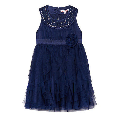 bluezoo - Girl's navy mesh fairy dress