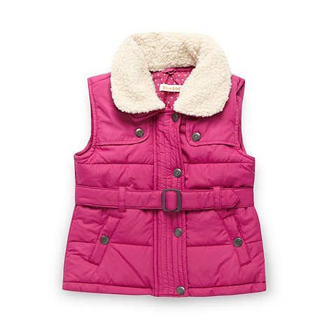 bluezoo - Girl+s pink padded gilet