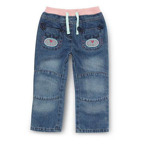 bluezoo - Girl+s blue applique jeans