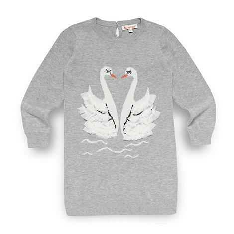 bluezoo - Girl+s grey swan tunic jumper